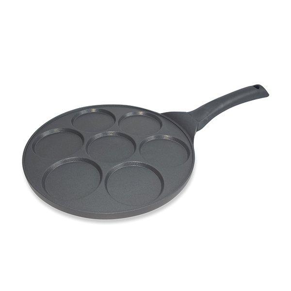 poele 7 mini blinis ou pancakes a induction fonte 26 5 cm