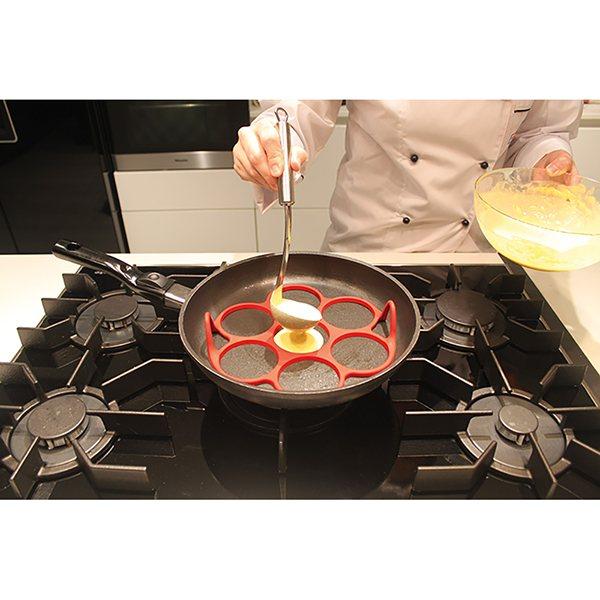 moule silicone 7 blinis pancakes pour poele noir