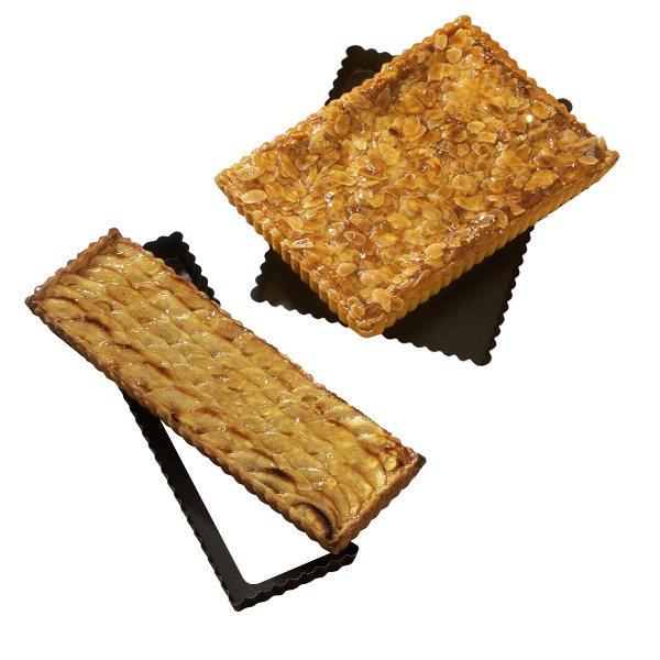 lot de 2 moules a tarte rectangle amovible 30 et 36 cm
