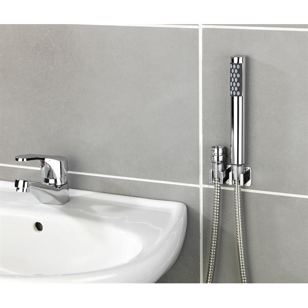 douchette lavabo avec crochet
