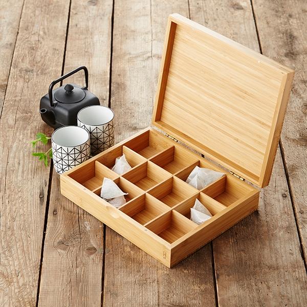 boite a the en bambou 12 compartiments