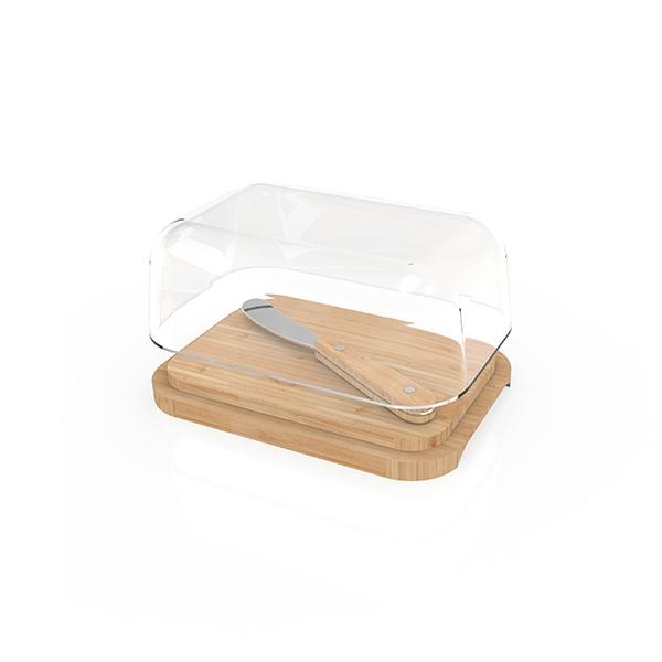beurrier verre bambou avec couteau
