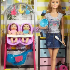 Baby Toy High Chair Set Outdoor Hanging Egg Canada Barbie® Careers Twin Babysitter