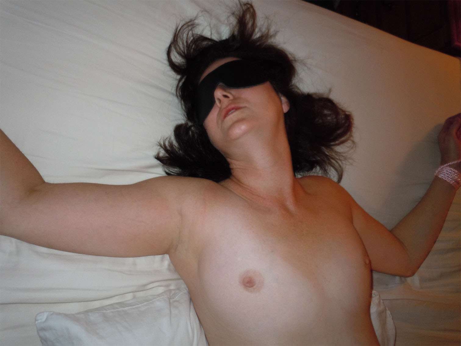 Naked fresh faced bargirl