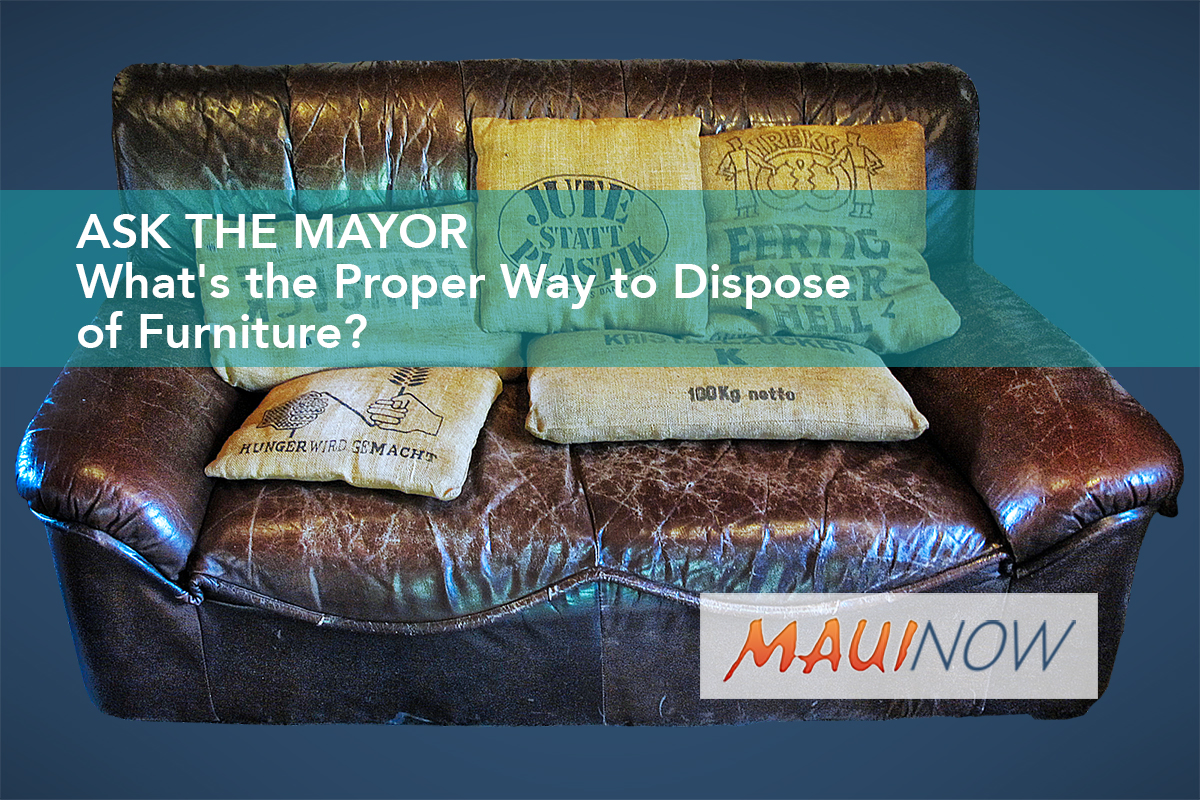 dispose of furniture maui