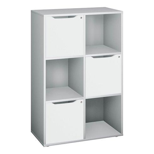 meuble a casiers aluminium 6 cases avec portes
