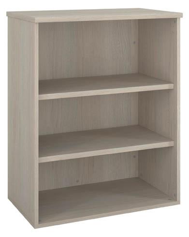 bibliotheque basse bois h 100 x l 80 cm arch