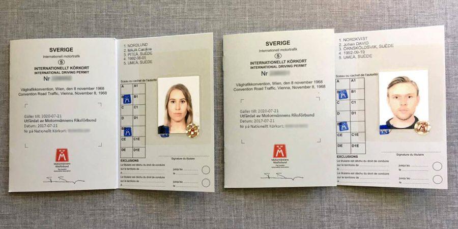 våra internationella körkort