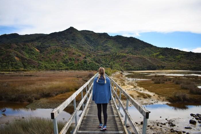 jag på bron till abel tasmans nationalpark