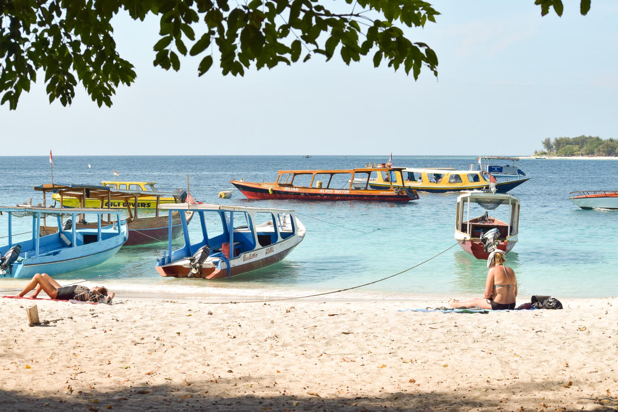 stranden på Gili Trawangan.