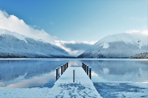 vinterlandskap vid nelson lakes