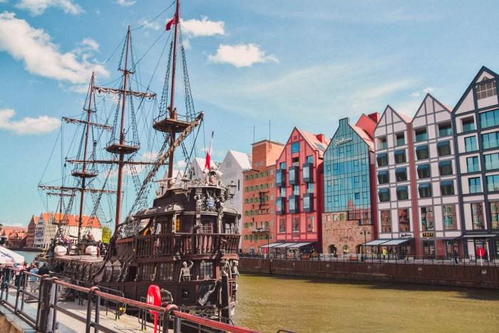 piratskepp i gdansk hamn