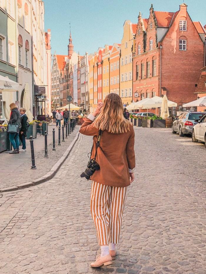 jag går på piwna street i gdansk