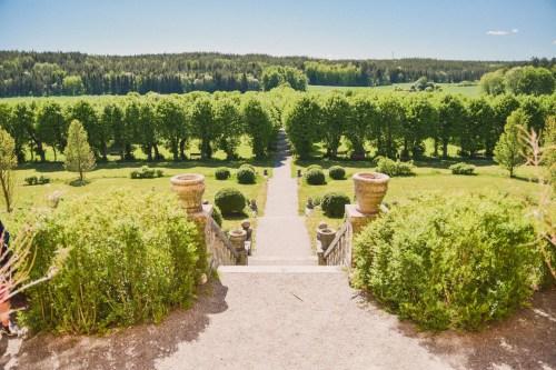 slottsträdgården vid wenngarns slott