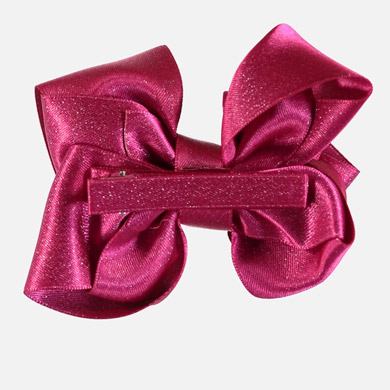 large bow hair clip fuchsia - mayoral