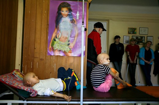 Cancer remains a health problem in Ukraine thirty years after the Chernobyl disaster. The number of cancers-caused deaths is disputed, but is believed to be in the thousands. // Oded Balilty / AP