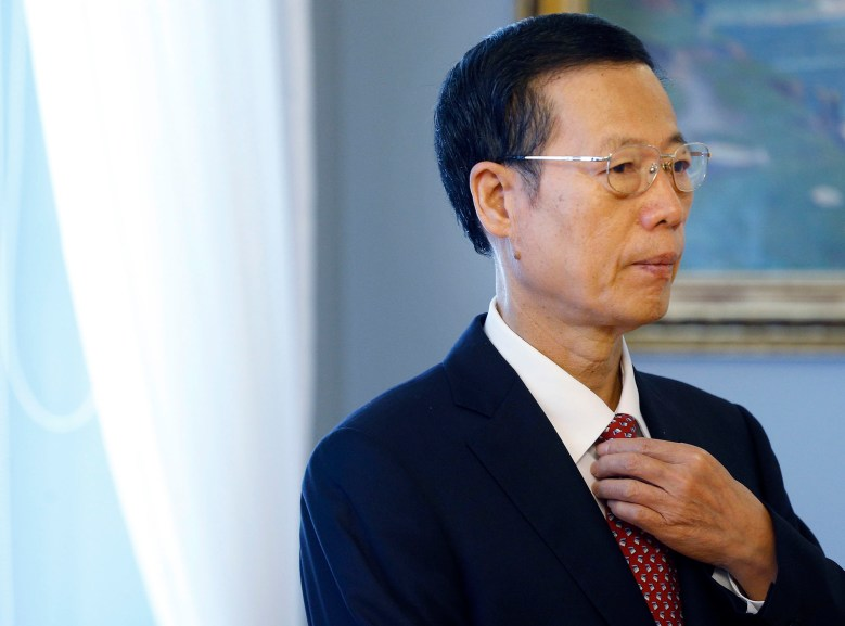 Chinese Vice Premier Zhang Gaoli arrives for a meeting in Vilnius, Lithuania, on June 22, 2015. // Mindaugas Kulbis / AP
