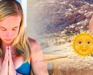Hon solar sitt anus varje dag – hälsoeffekten är otrolig