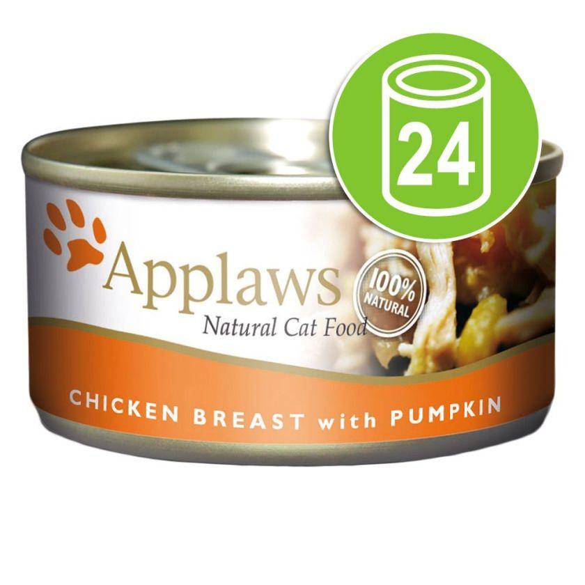 24x156g poulet, potiron Applaws - Nourriture pour Chat