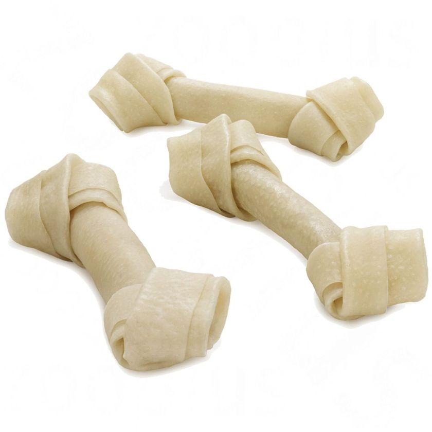Barkoo Os à mâcher avec nœuds en peau de porc pour chien - 12 os de 13 cm (600 g)