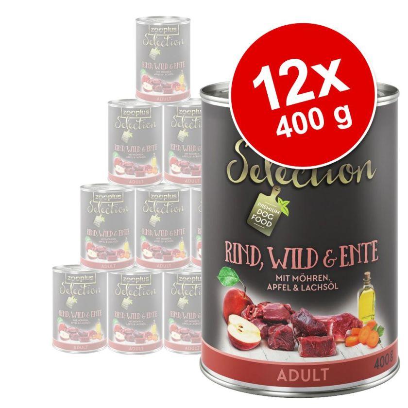 Lot zooplus Selection 12 x 400 g pour chien - lot mixte Junior
