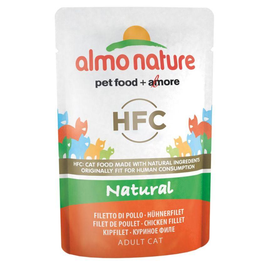 Almo Nature HFC 6 x 55 g pour chat - lot mixte poulet - 3 saveurs