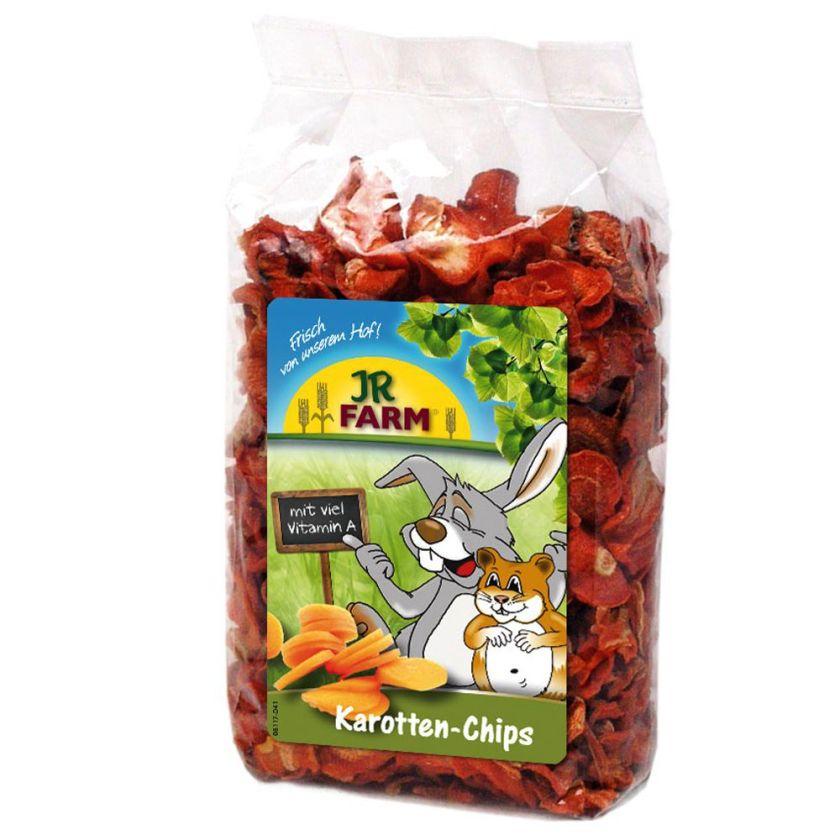 JR Farm Chips de carottes pour rongeur et oiseau - 3 x 125 g