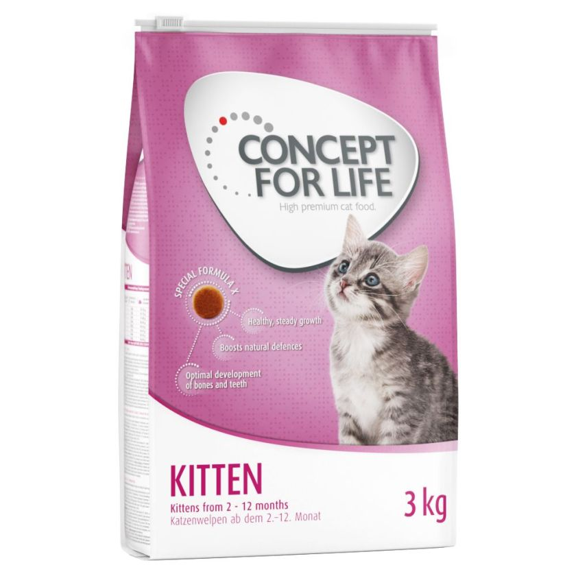 Concept for Life Kitten pour chaton - 3 x 3 kg