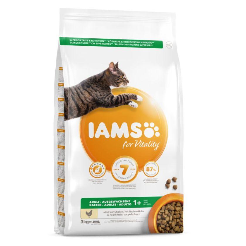 2x10kg Adult Riche en poulet Pro Active Health IAMS - Croquettes pour Chat