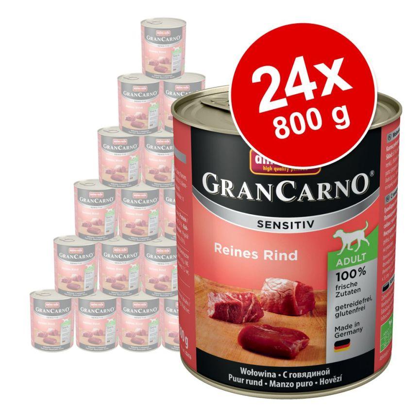 24x800g Sensitive pur agneau Animonda GranCarno - Nourriture pour chien