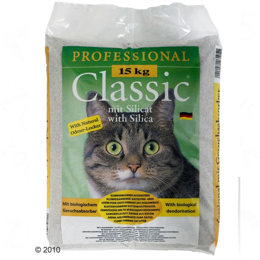 Litière Professional Classic, avec absorbeur d´odeurs - 15 kg
