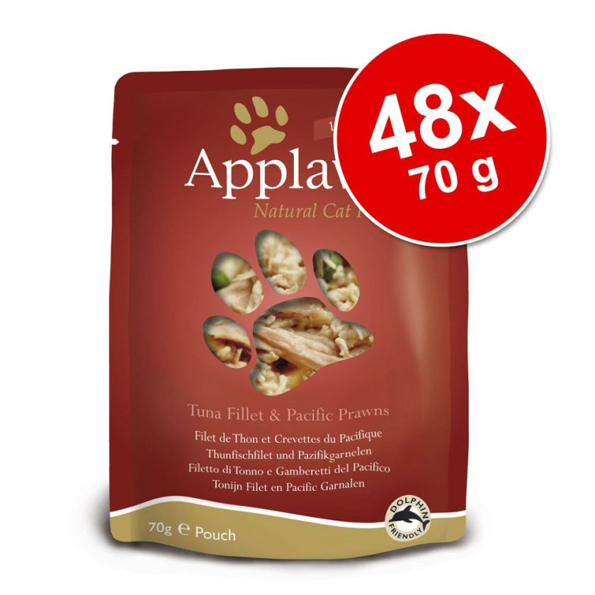 48x70g Applaws Poulet/potiron Sachets pour chat