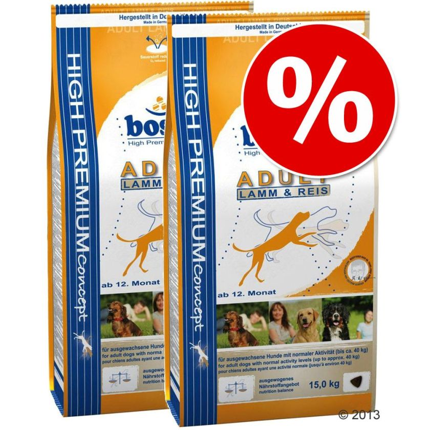 Lot Bosch pour chien - HPC Plus truite, pommes de terre (2 x 12,5 kg)