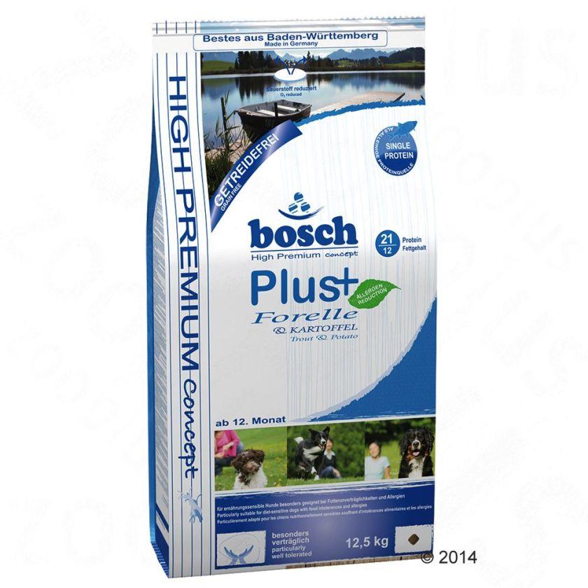 Bosch HPC Plus truite, pommes de terre pour chien - 12,5 kg