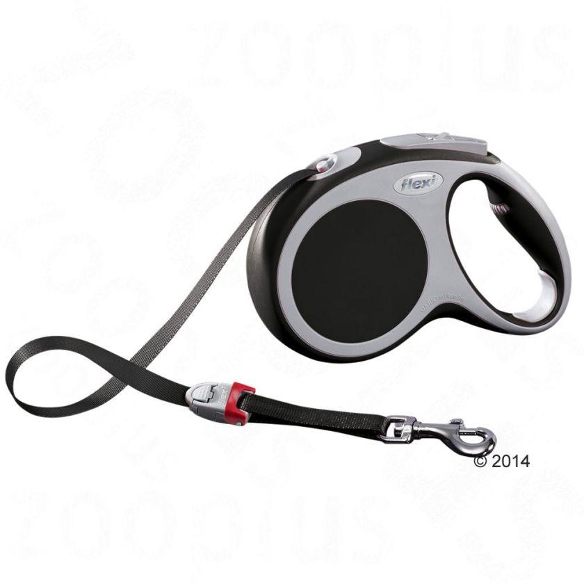 Laisse-sangle flexi Vario M (5 m), anthracite pour chien - lampe LED Lighting System