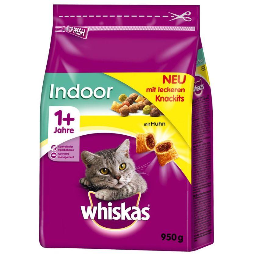 Whiskas 1+ Indoor, poulet pour chat - 2 x 950 g