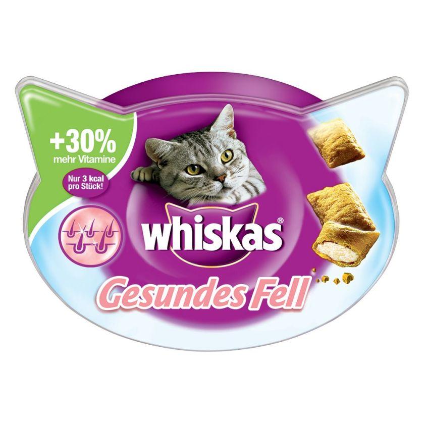 6x72g Pelage sain Whiskas - Friandises pour Chat