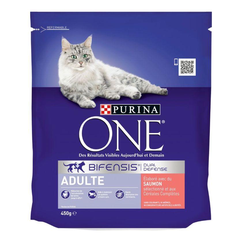 1,5kg Adulte saumon céréales complètes PURINA ONE - Croquettes pour chat
