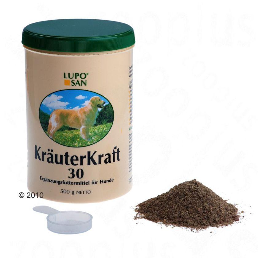 2x1,2kg Kräuterkraft 30 Luposan pour chien - Compléments alimentaires pour chien