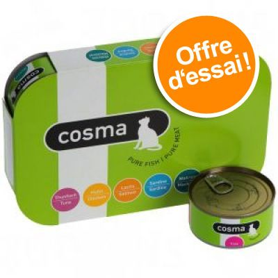 6x85 g 5 saveurs Cosma Original Nourriture pour chat