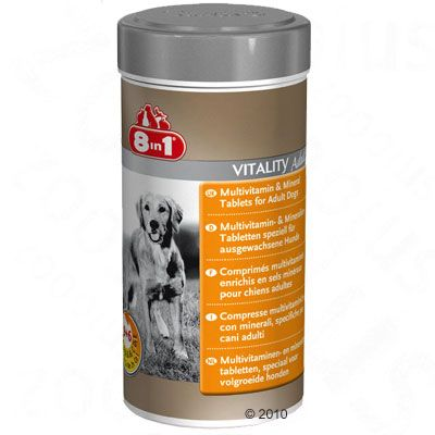 2x70g Vitality Adult 8in1 pour chien - Complément alimentaire pour chien