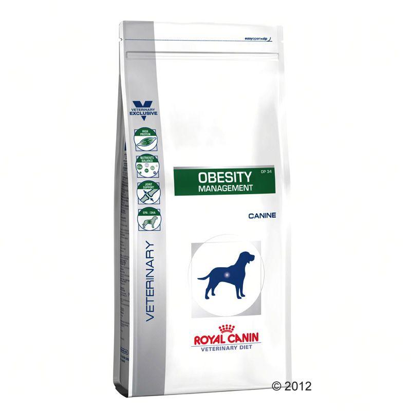 2x14 kg Obesity Management DP 34 Royal Canin Veterinary Diet pour chien