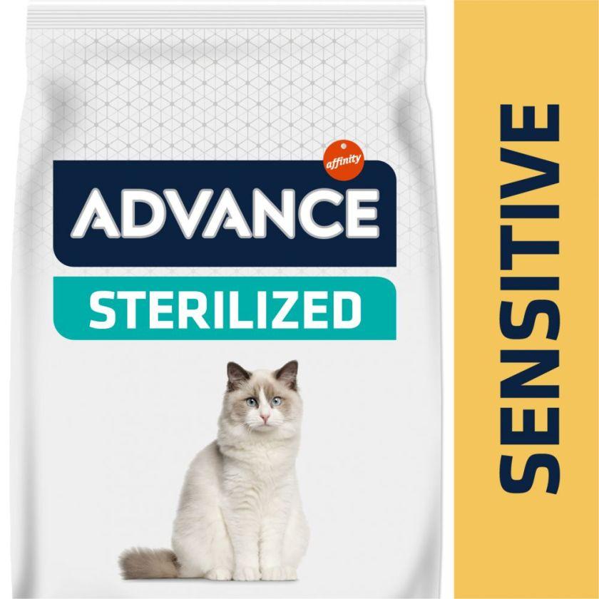 3kg Sterilized Advance Saumon Croquettes pour chat