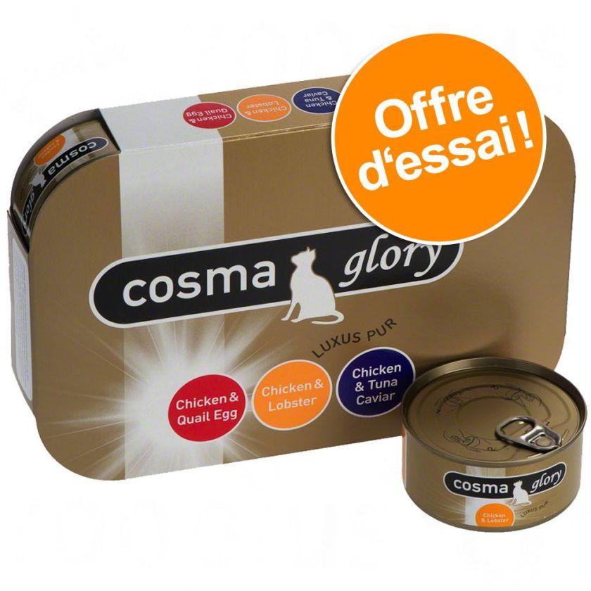 Offre découverte mixte Cosma Glory pour chat - 3 saveurs (6 x 170 g)