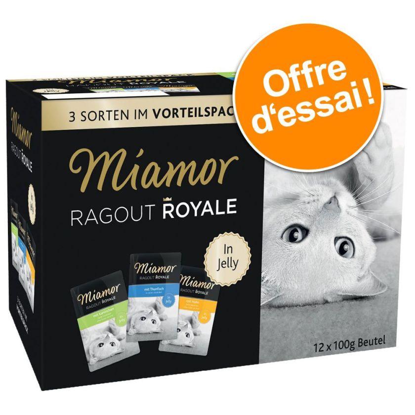 12x100g Ragoût Royal à la crème Miamor - Nourriture pour Chat