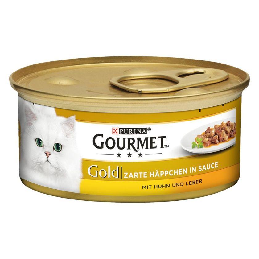 Gourmet Gold Les Noisettes 12 x 85 g pour chat - saumon, pouletChat / Boîtes et sachets / Gourmet Gold / Gourmet Gold Les Noisettes