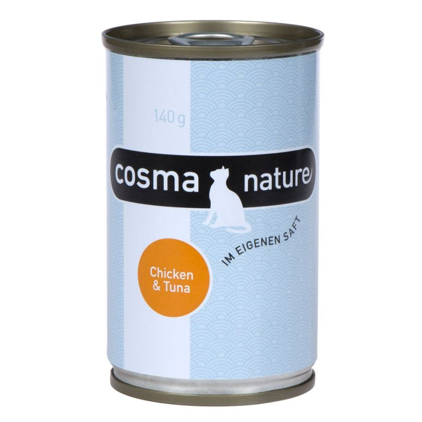 6x140g poulet / saumon Cosma - Nourriture pour Chat