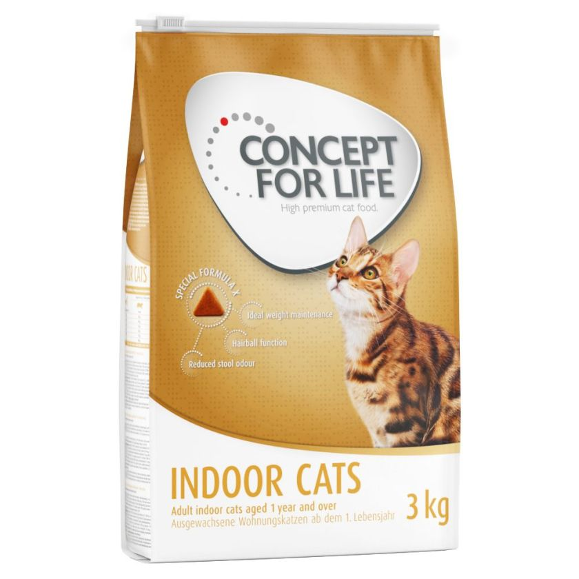 10kg Indoor Cats Concept for Life - Croquettes pour Chat