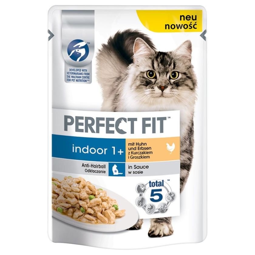 24x85g In-Home poulet et petits pois Perfect Fit - Nourriture pour Chat