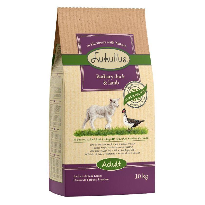 Lukullus Canard de Barbarie, agneau pour chien - 2 x 10 kg